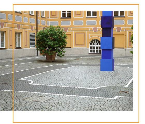 Gestaltung Innenhof München